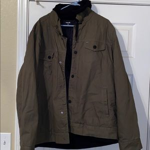 Hurley Jacket with Hoodie Size XL